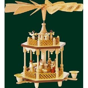 1 tier nativity natural german wood christmas pyramid