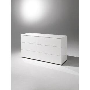 YumanMod Basic 6 Drawer Double Dresser