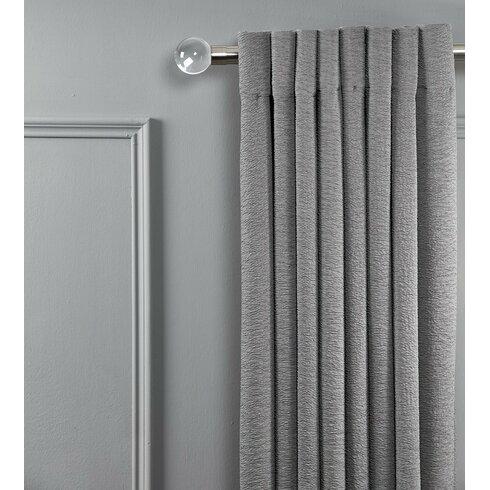 Holter Clear Acrylic Window Single Curtain Rod