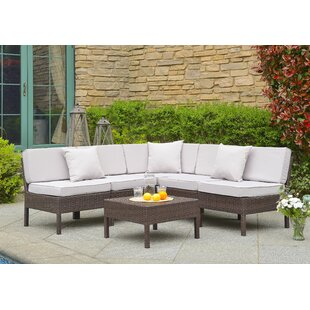 Mccubbin 6 Piece Rattan Sectional Set With Cushions