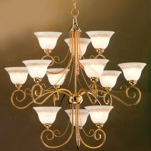 Classic Lighting Torino 12-Light Shaded Chandelier