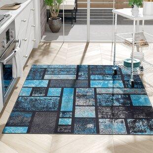 Affordable Emmaline Modern Turquoise Area Rug ByZipcode Design