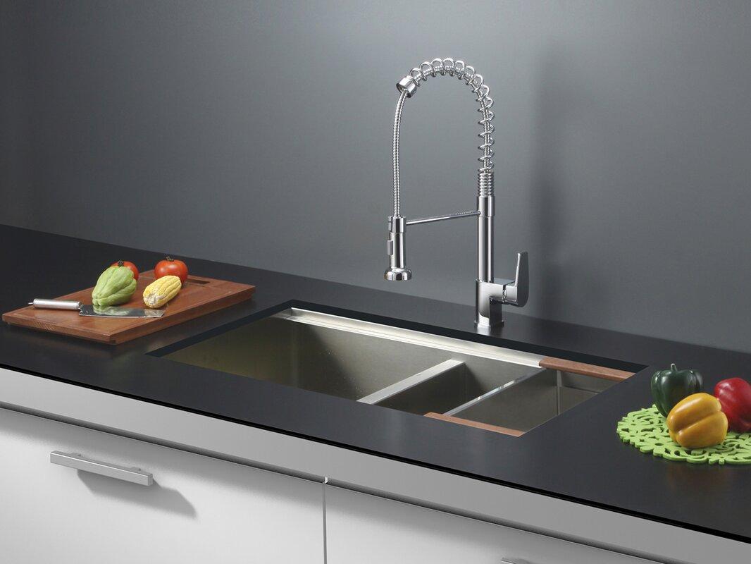 roma 33   x 19   undermount double basin kitchen sink ruvati roma 33   x 19   undermount double basin kitchen sink      rh   wayfair com