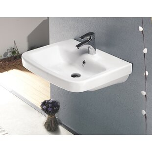 CeraStyle by Nameeks Noura Plus Ceramic Rectangular Drop-In Bathroom Sink with Overflow