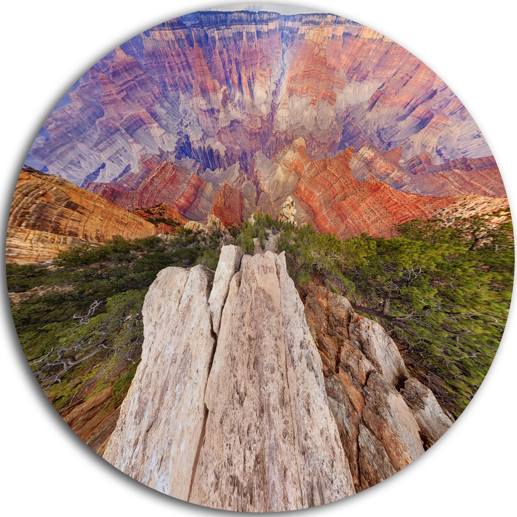Designart Grand Canyon View From Above Photographic Print On Metal Wayfair
