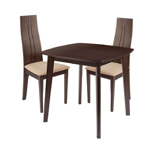 Annora 3 Piece Solid Wood Dining Set by Ebern Designs