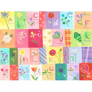 A-Z Flowers Canvas Art