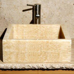 Read Reviews Sancrystal Stone Square Vessel Bathroom Sink ByAllstone Group