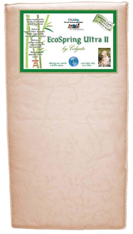colgate cradletyme naturals ecospring ultra ii crib mattress