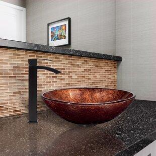 Read Reviews Phoenix Glass Circular Vessel Bathroom Sink with Faucet By VIGO