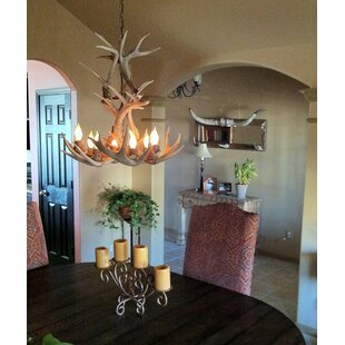 Loon Peak Doliya Antler Whitetail Cascade 9-Light We have associated to option Chandelier