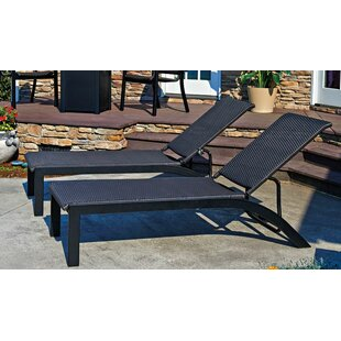 Kendall Stacking Reclining Chaise Lounge (Set of 2)