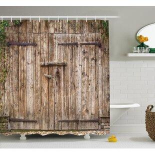 Vintage Old Oak Steel Door Shower Curtain Hooks