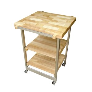 Kitchen Cart with Wood Top..