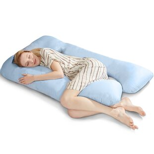 Compare prices Goodman U Shaped Pregnancy Polyfill Body Pillow with Zippered Cover ByAlwyn Home