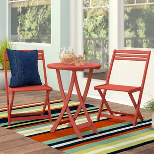 Beachcrest Home Bristol 3 Piece Bistro Set