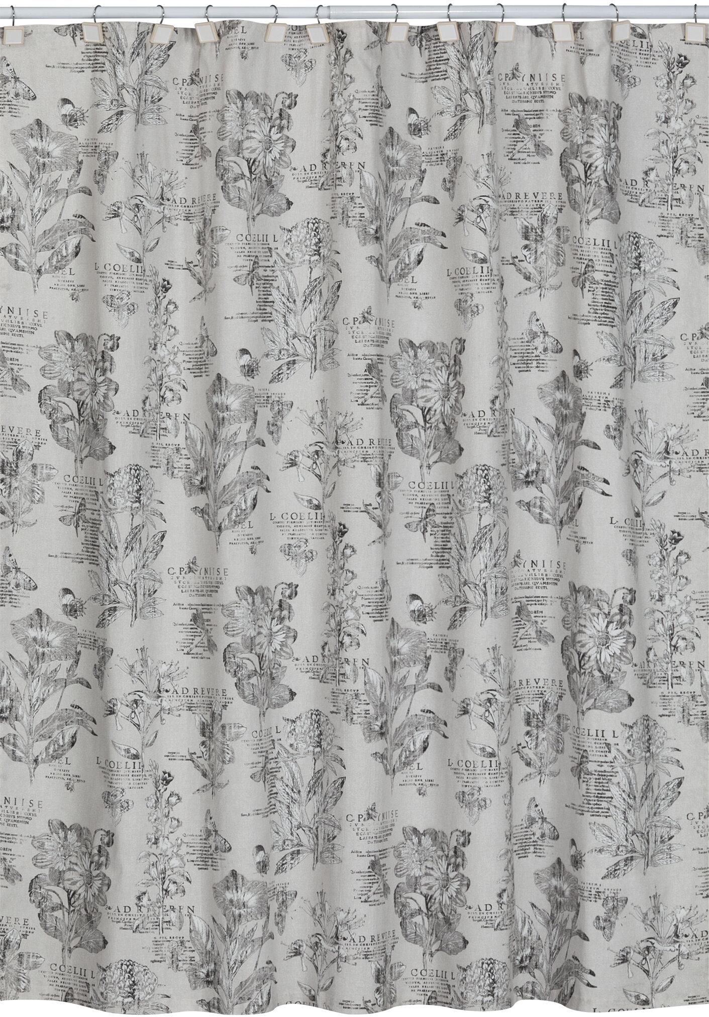Lark Manor Adoxa Etching Cotton Single Shower Curtain Reviews Wayfair