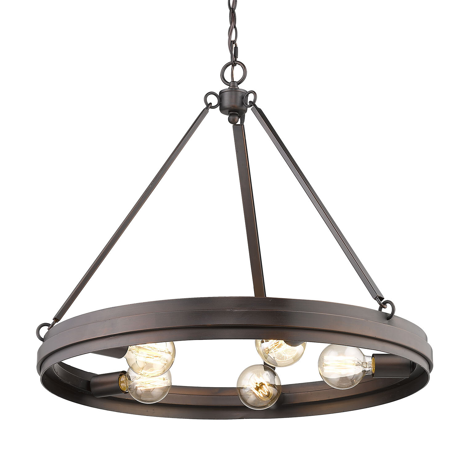 Bardell 5 light wagon wheel chandelier