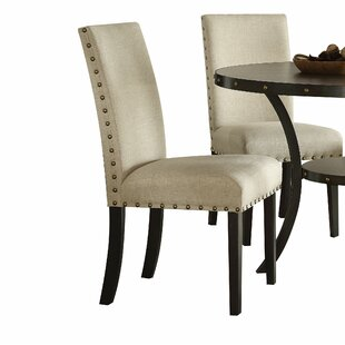 Shelly Upholstered Dining Chair (Set of 2) Canora Grey