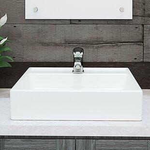 Compare Classically Redefined Aurelia Ceramic Square Vessel Bathroom Sink By DECOLAV