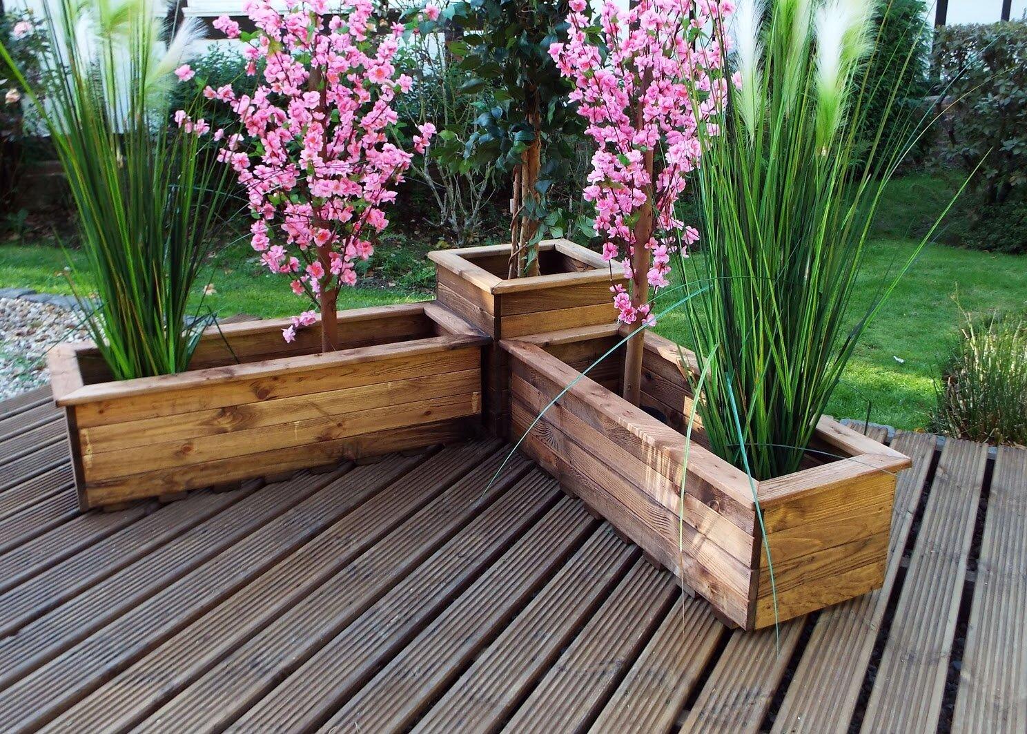 Wooden Planter Box Set
