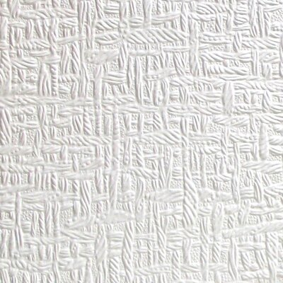 """Anaglypta Paintable Kingston 33' x 20.5"""" Abstract 3D Embossed Wallpaper Brewster Home Fashions"""