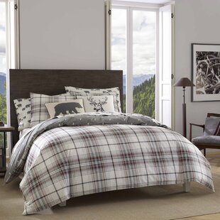 Alder Plaid 100% Cotton Duvet Cover Set
