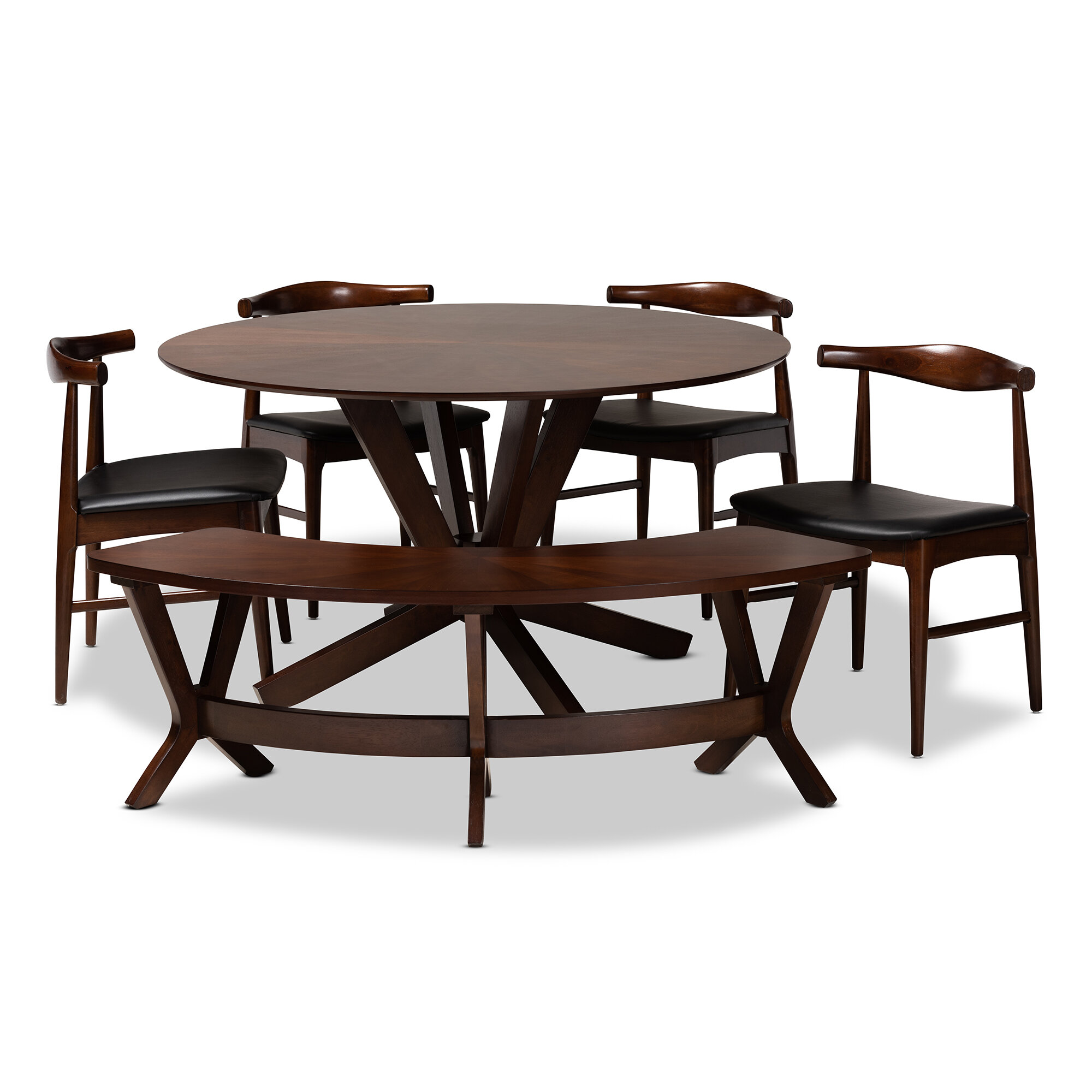 Ivy Bronx Southard Mid Century Modern Upholstered 6 Piece Dining Set Wayfair