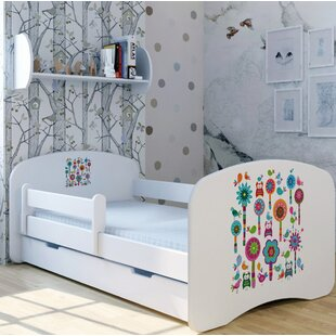 Playful Flowers Bed With Mattress And Drawer By Zoomie Kids