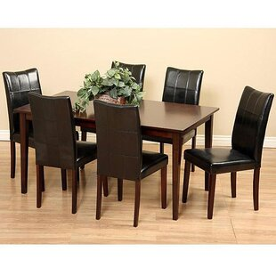 Etelvina 7 Piece Solid Wood Dining Set by Red Barrel Studio