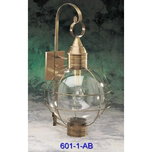 Best Price 600 Series 1-Light Outdoor Wall Lantern By Brass Traditions