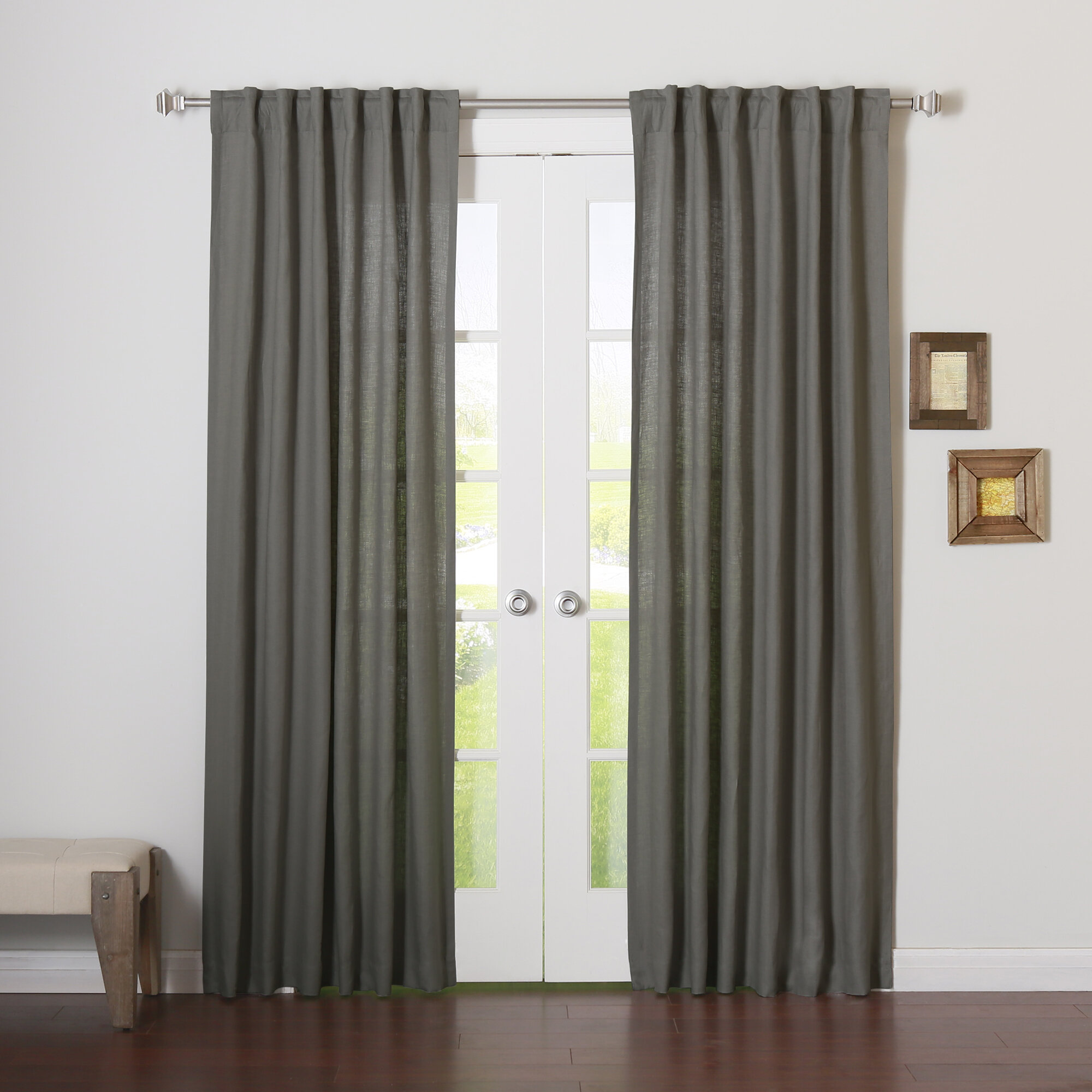 panel home heathered sunsmart product blackout curtains free on linen printed curtain garden arlie over orders overstock shipping