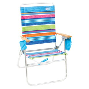 Rio Brands Hi-Boy Reclining/Folding Beach Chair (Set of 20)