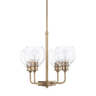 Maria 4-Light Shaded Chandelier by Langley Street