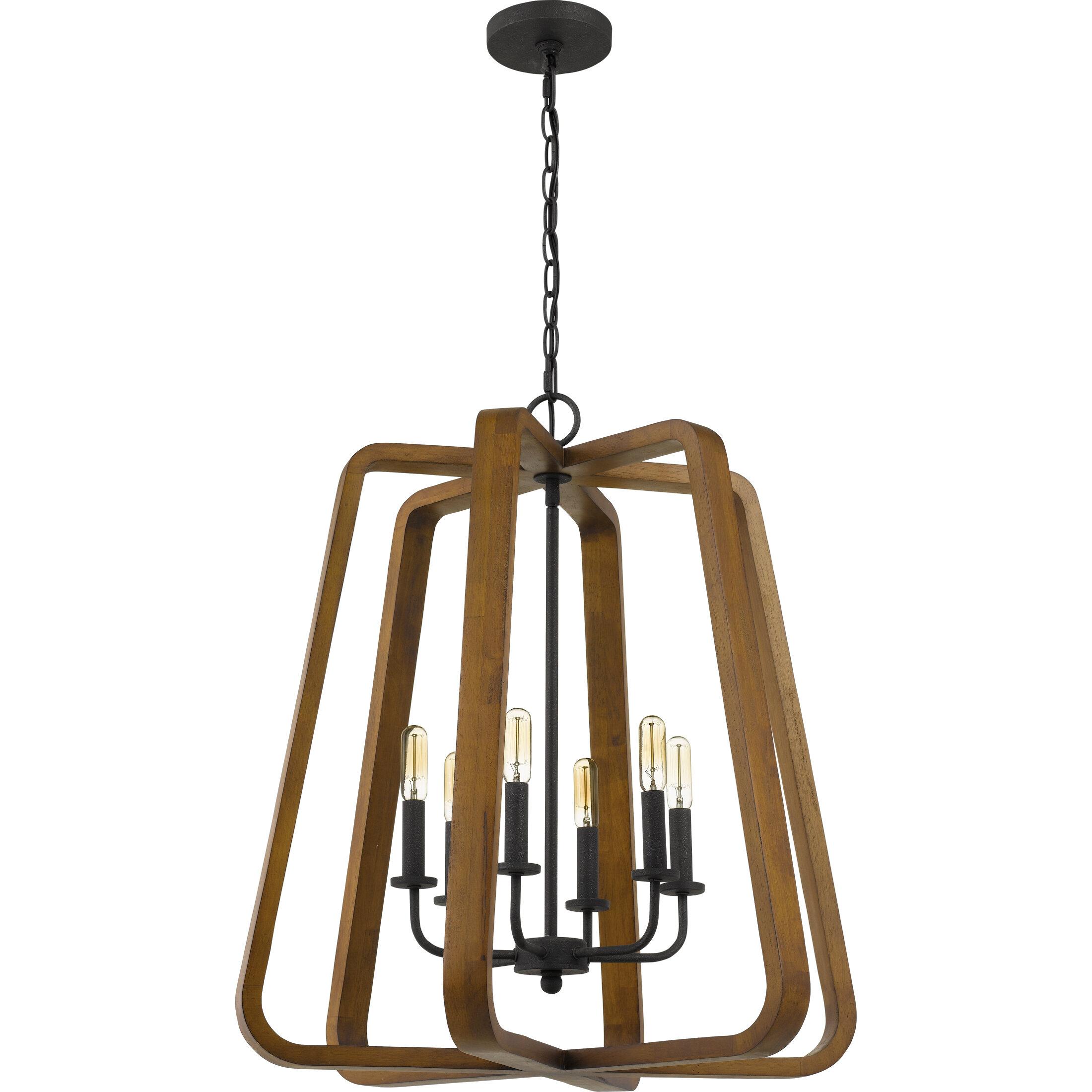Gracie Oaks Raffaele 6 Light Candle Style Geometric Chandelier Wayfair