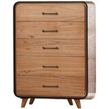 Nunes Wooden 5 Drawer Chest by George Oliver