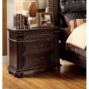 Ellis 3 Drawer Nightstand