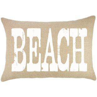 Beach Burlap Lumbar Pillow