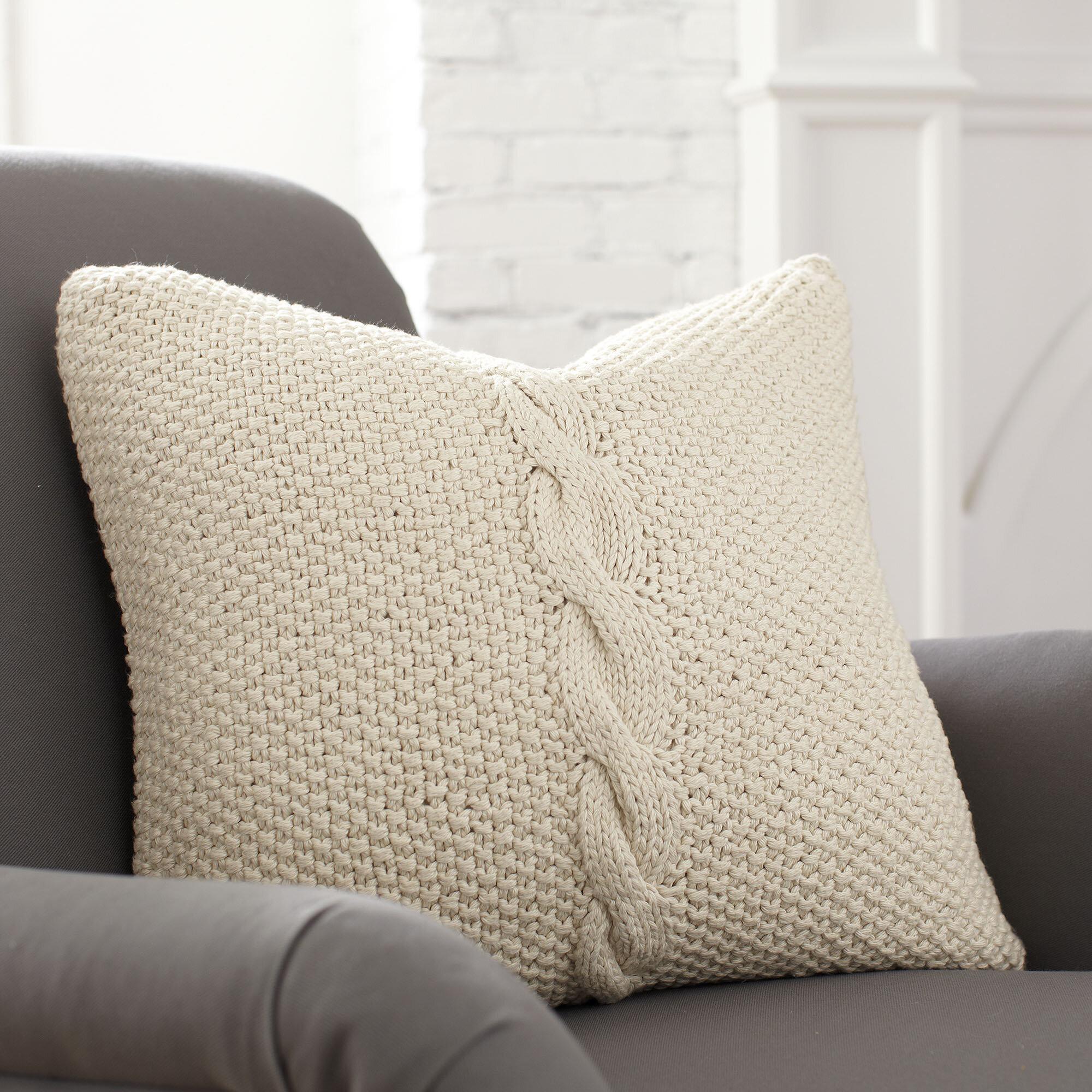 Birch Lane Peyton Cotton Throw Pillow Cover Reviews Wayfair