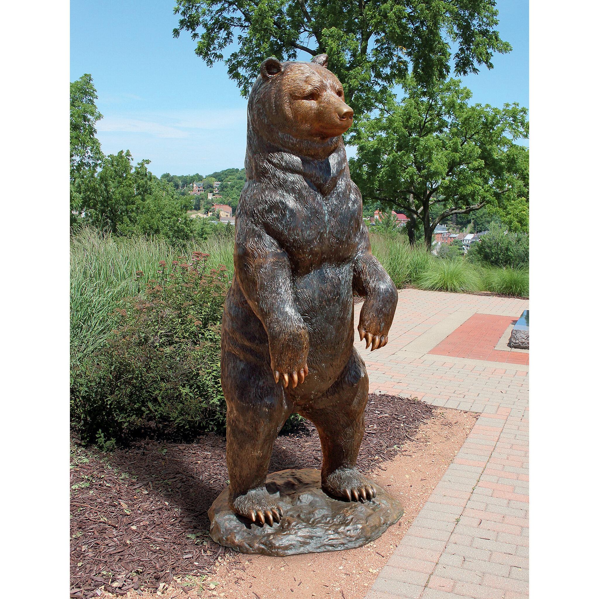 Design Toscano Standing Black Bear Garden Statue Wayfair