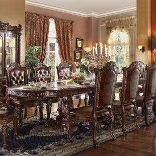 Welles Carved Extendable Dining Table Astoria Grand