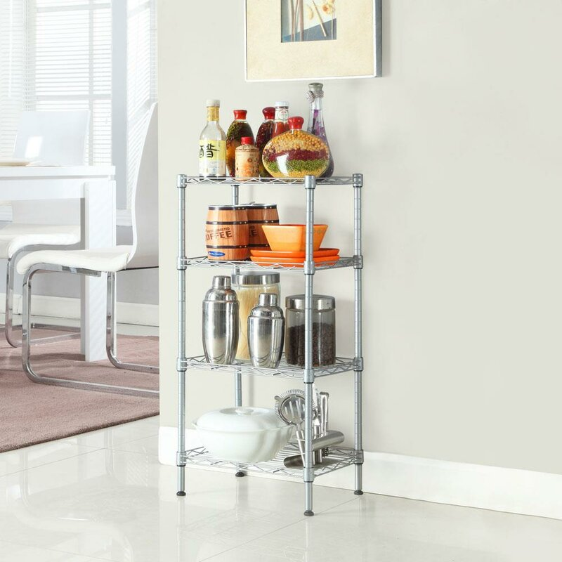 Rebrilliant Withrow 32 H X 14 W Corner Shelves Storage Unit Reviews Wayfair