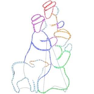 396 Multicolour Nativity 3 Wise Men Christmas Rope Light Image