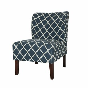 Glitzhome Indigo Lattice Slipper Chair