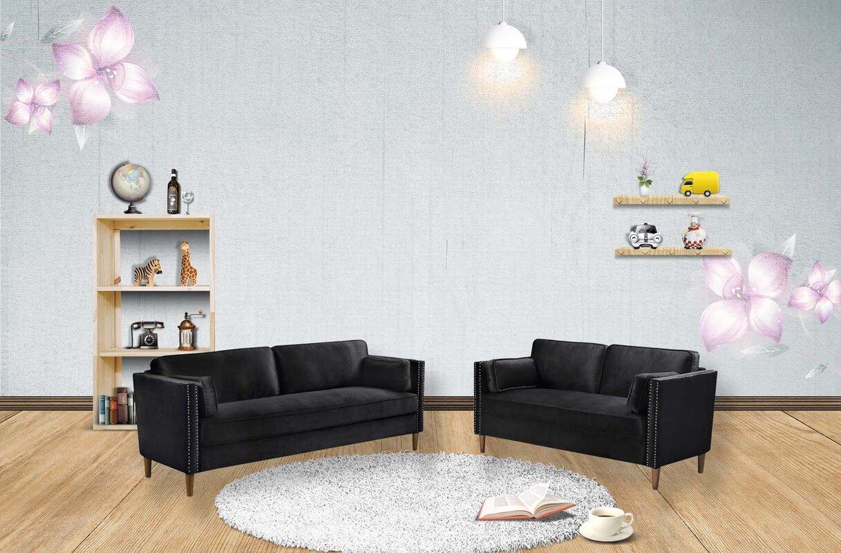 Corrigan Studio Ozbourn 2 Piece Standard Living Room Set
