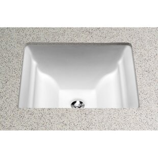 Aimes Ceramic Rectangular Undermount Bathroom Sink with Overflow Toto