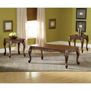 Dygenys 3 Piece Coffee Table Set