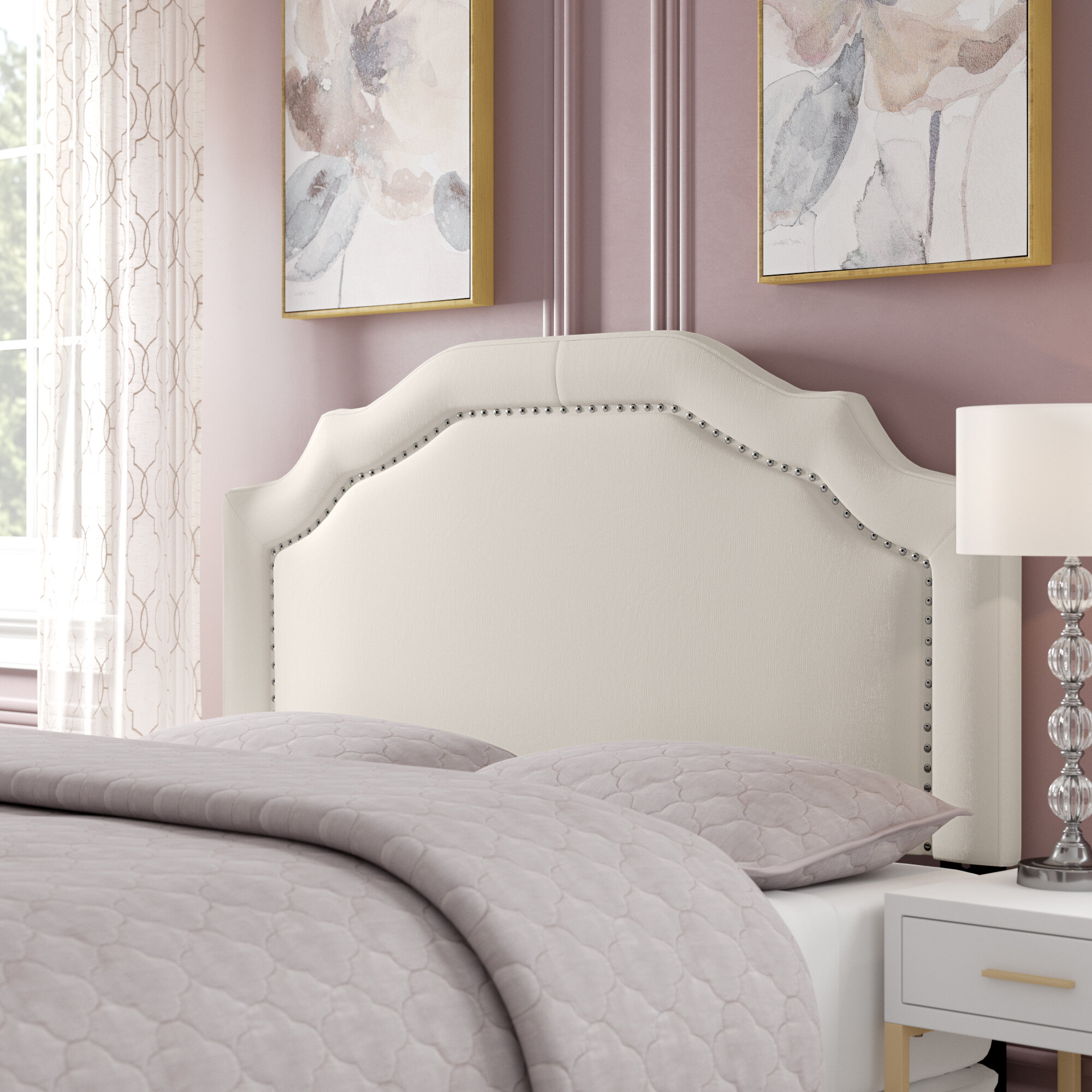Willa arlo interiors aulay full queen upholstered panel headboard reviews wayfair