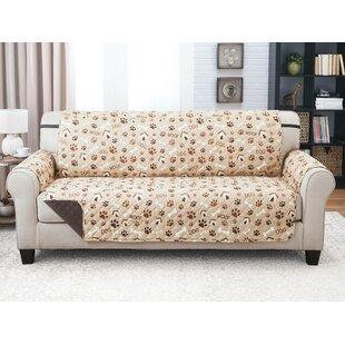 Winston Porter Print T-Cushion Sofa Slipcover