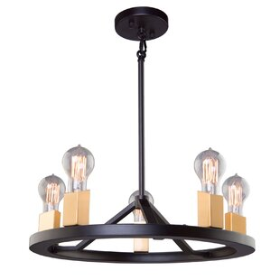 Skyline 5-Light Wagon Wheel Chandelier by..